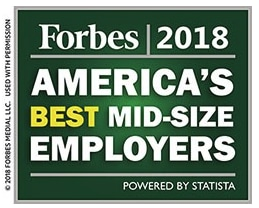 Forbes America's best mid-size employers 2018 logo